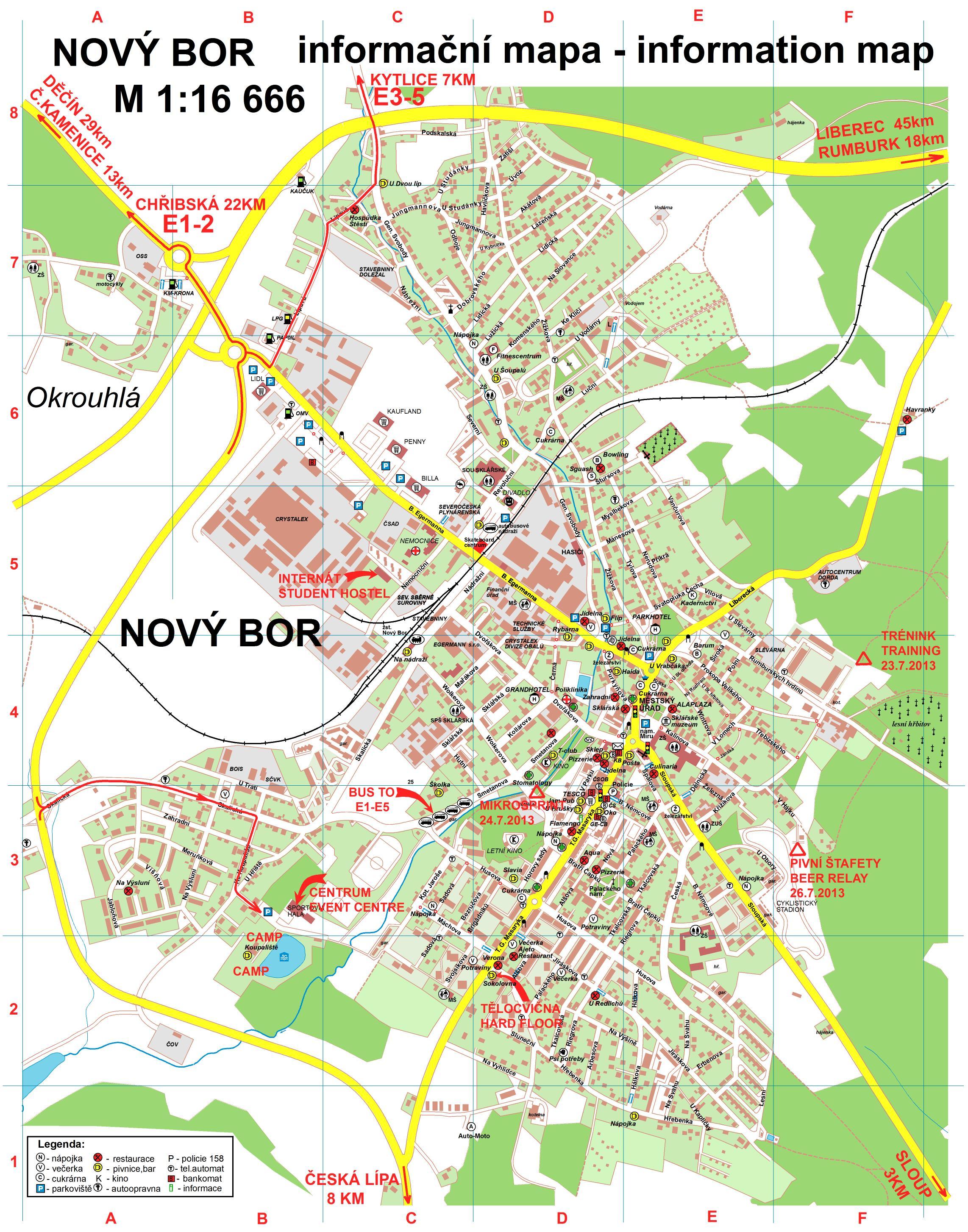 bor mapa Bohemia Orienteering 24. 28.7.2013 | Kytlice & Chřibská; very  bor mapa